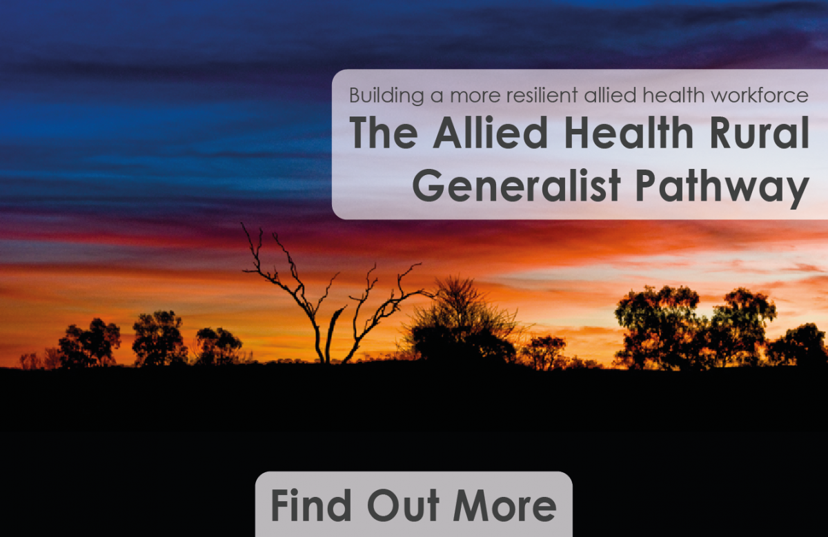 Find out more about the allied health rural generalist pathway