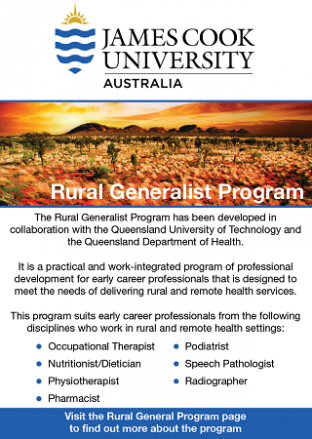 James Cook University Rural Generalist Program